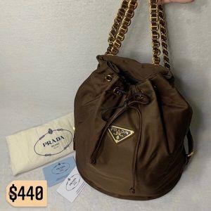 ✨✨✨✨SOLD✨✨✨✨Prada RARE Brown Chain Backpack